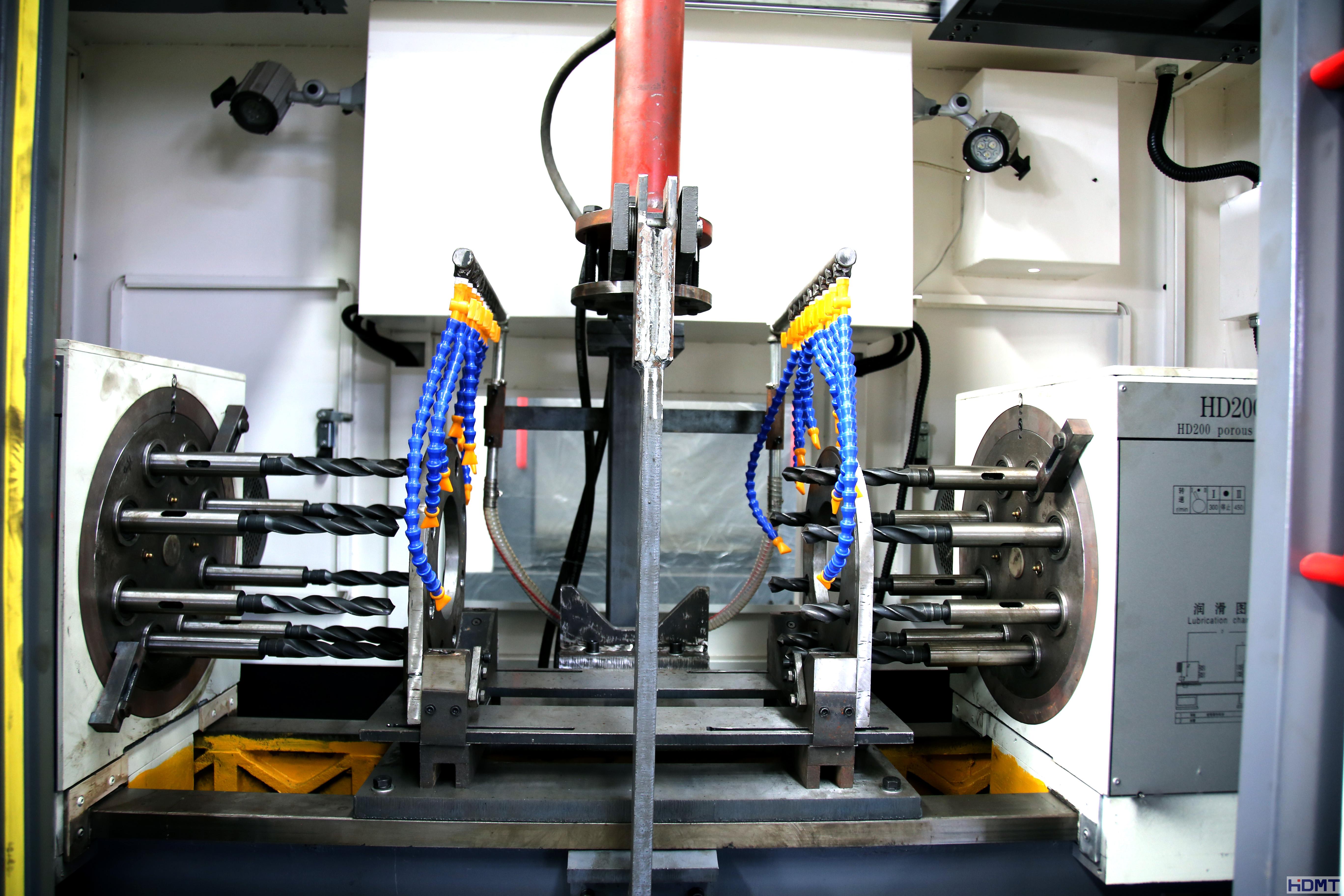 液压两面多孔钻床管件加工设备卧式机床